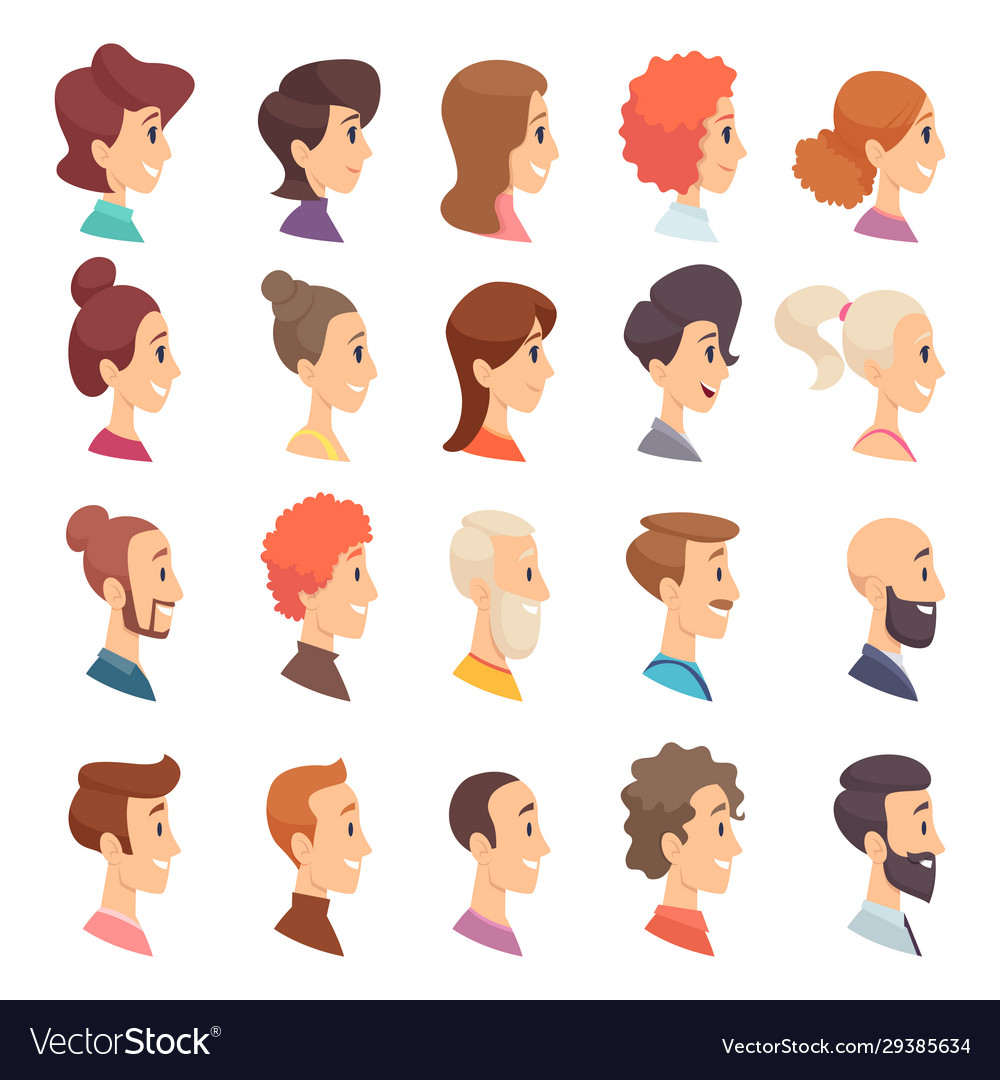Avatars profile persons male and female different