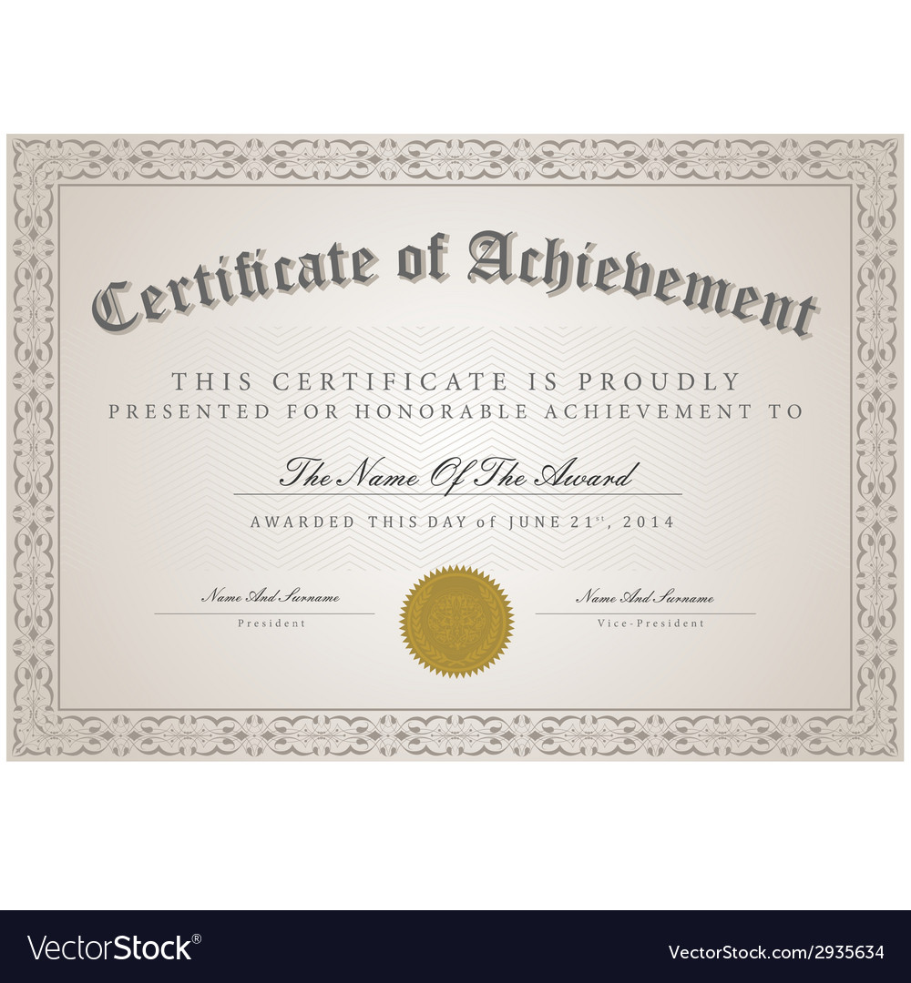 Certificate template concept royalty free vector image certificate template concept vector image maxwellsz