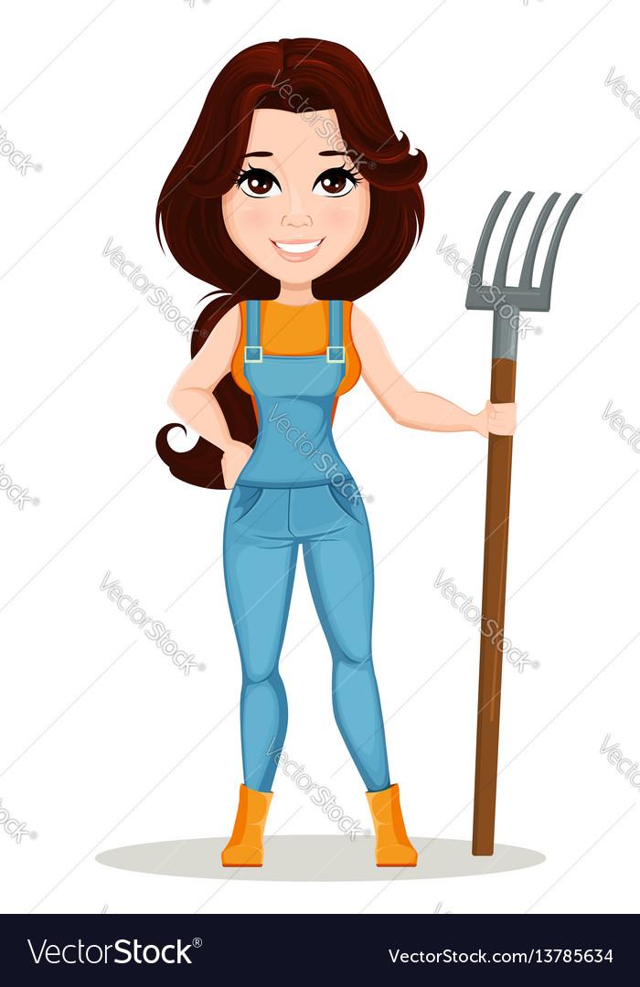 Character beautiful farm woman 6