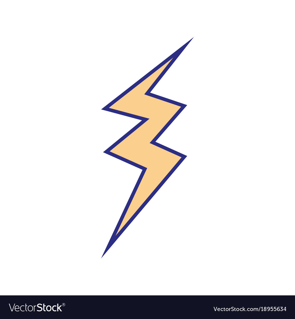 Full Color Thunder Symbol Icon Warning Alert Vector Image