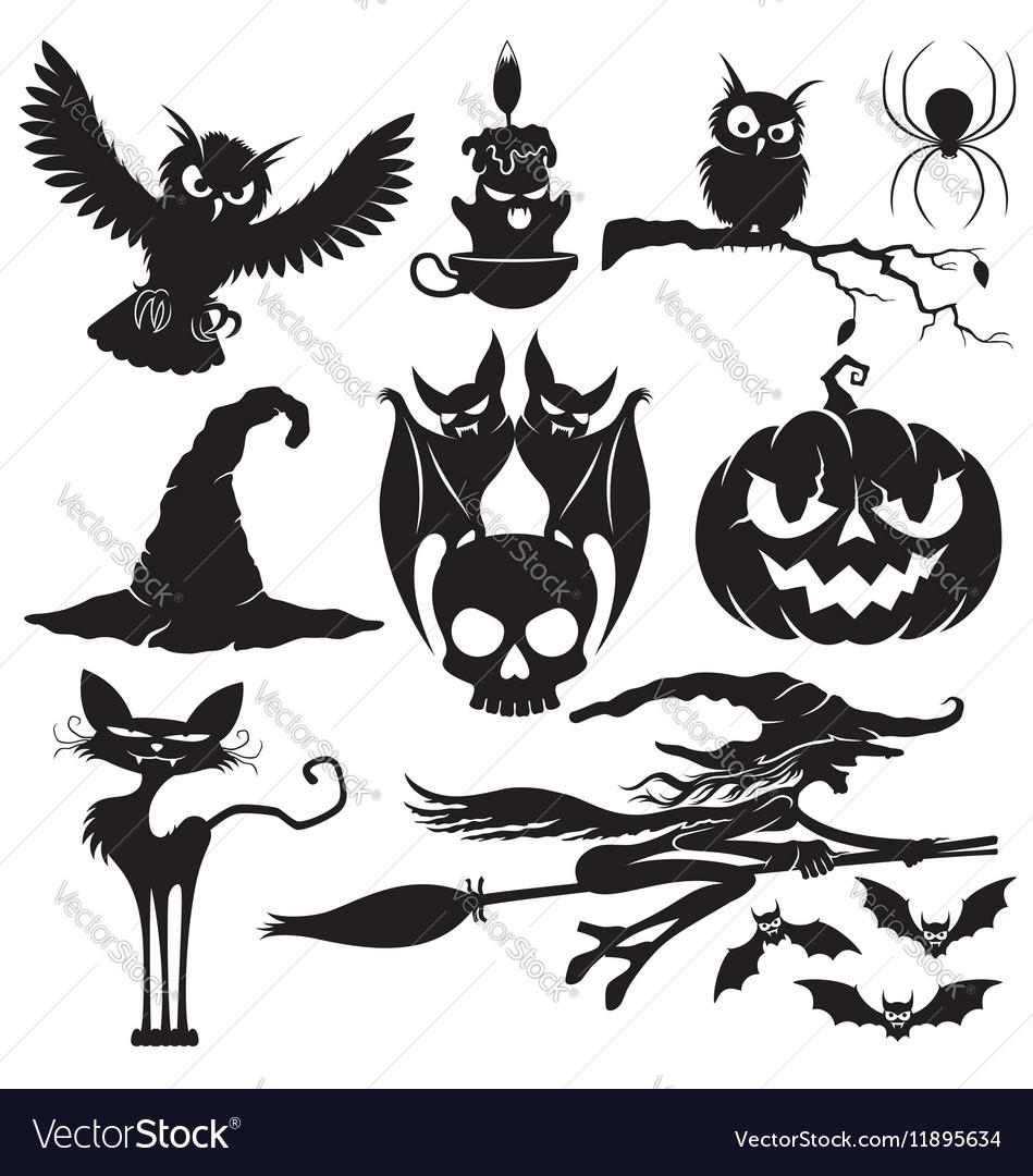 Halloween black signs
