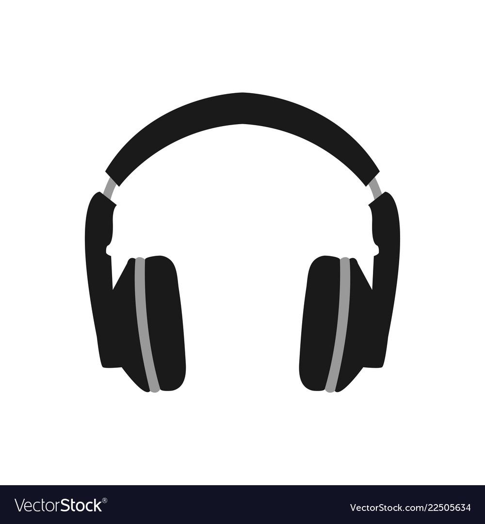 Headphone logo icon design template