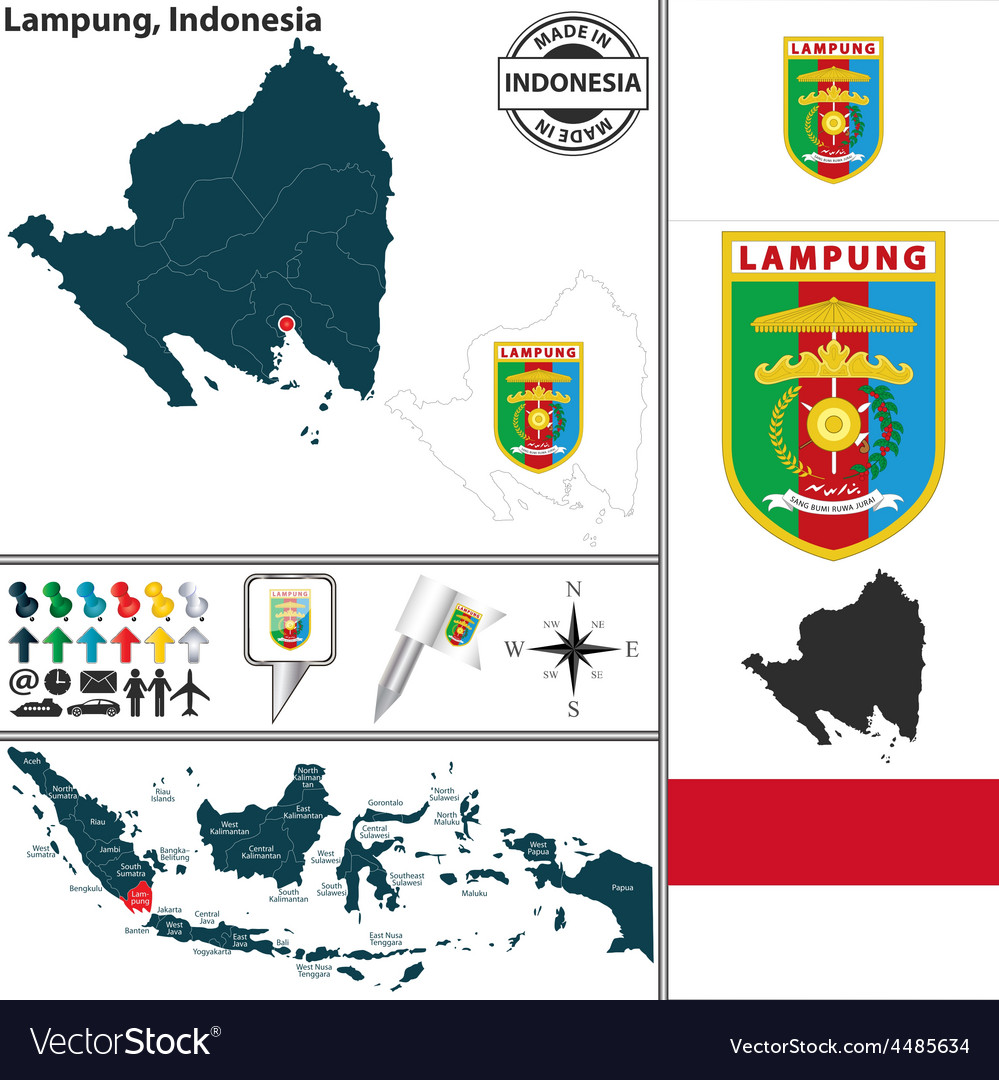 Map of Lampung vector image