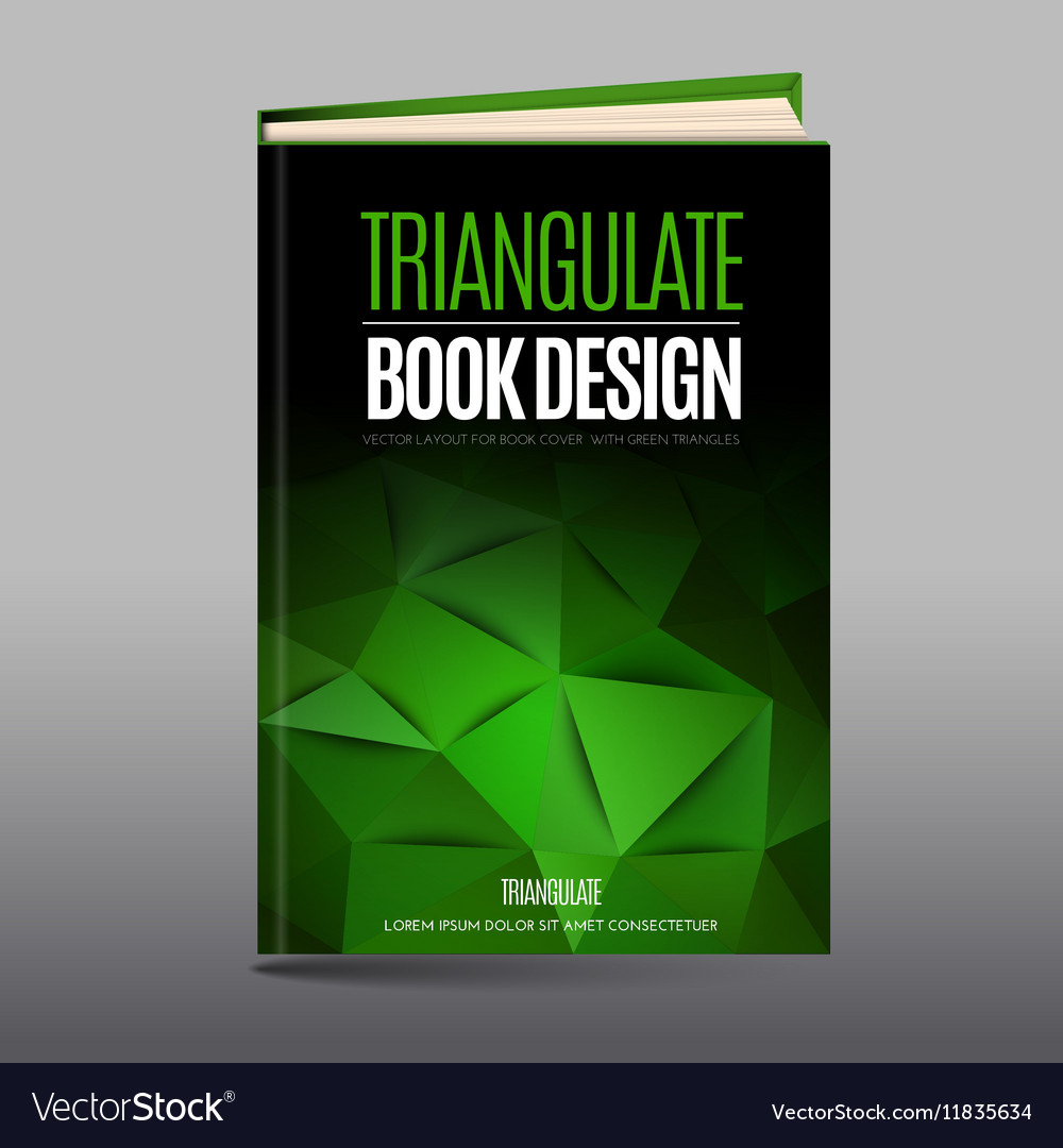 Modern abstract brochure as book cover vector image