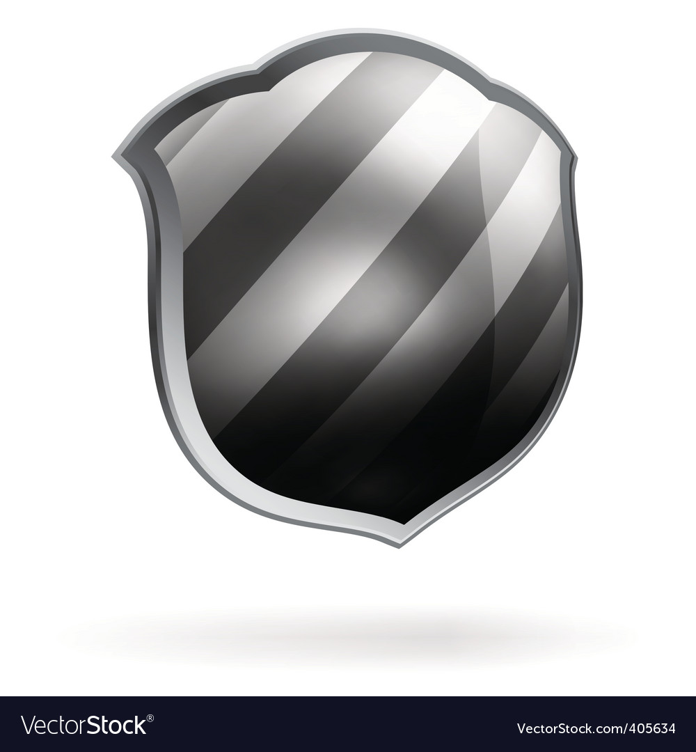 Protection shield template vector image