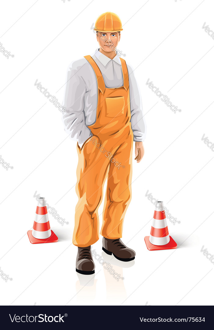 Road builder vector image