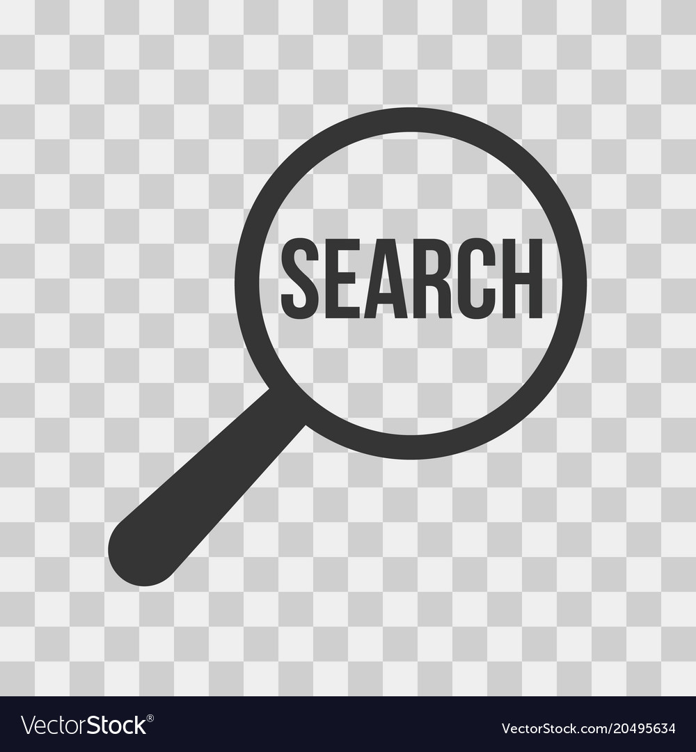 Search Word Magnifying Glass Icon Set Royalty Free Vector