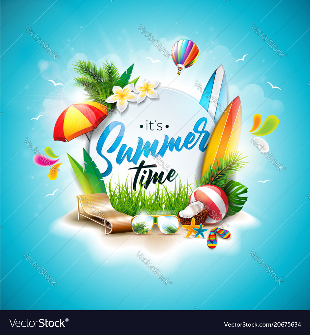 Summer time holiday typographic