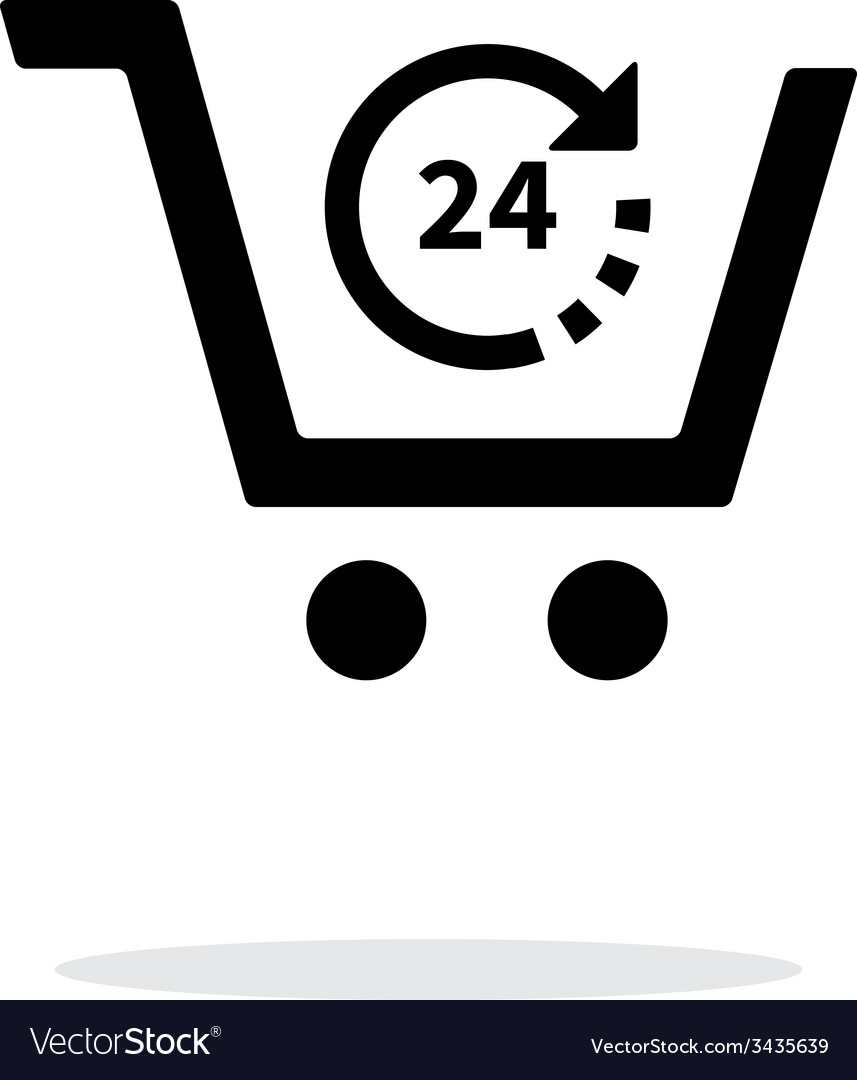 Convenience store simple icon on white background vector image