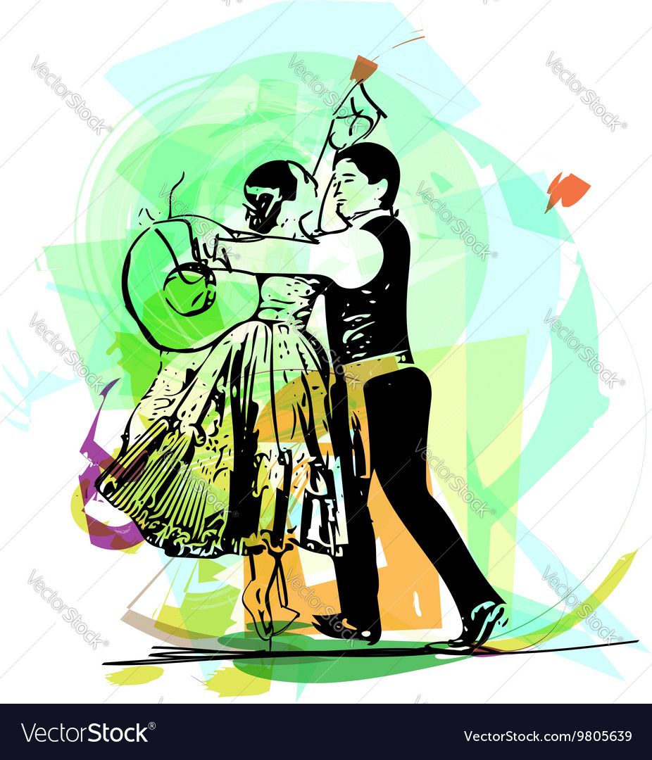 Couple dancing marinera