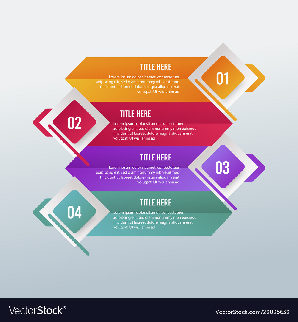 Digital business infographic design