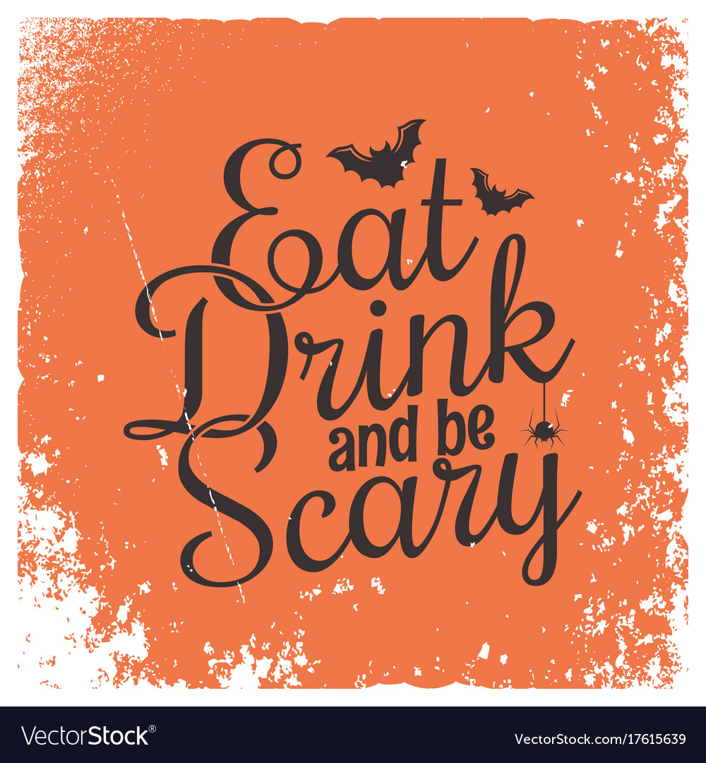 Halloween party vintage lettering background
