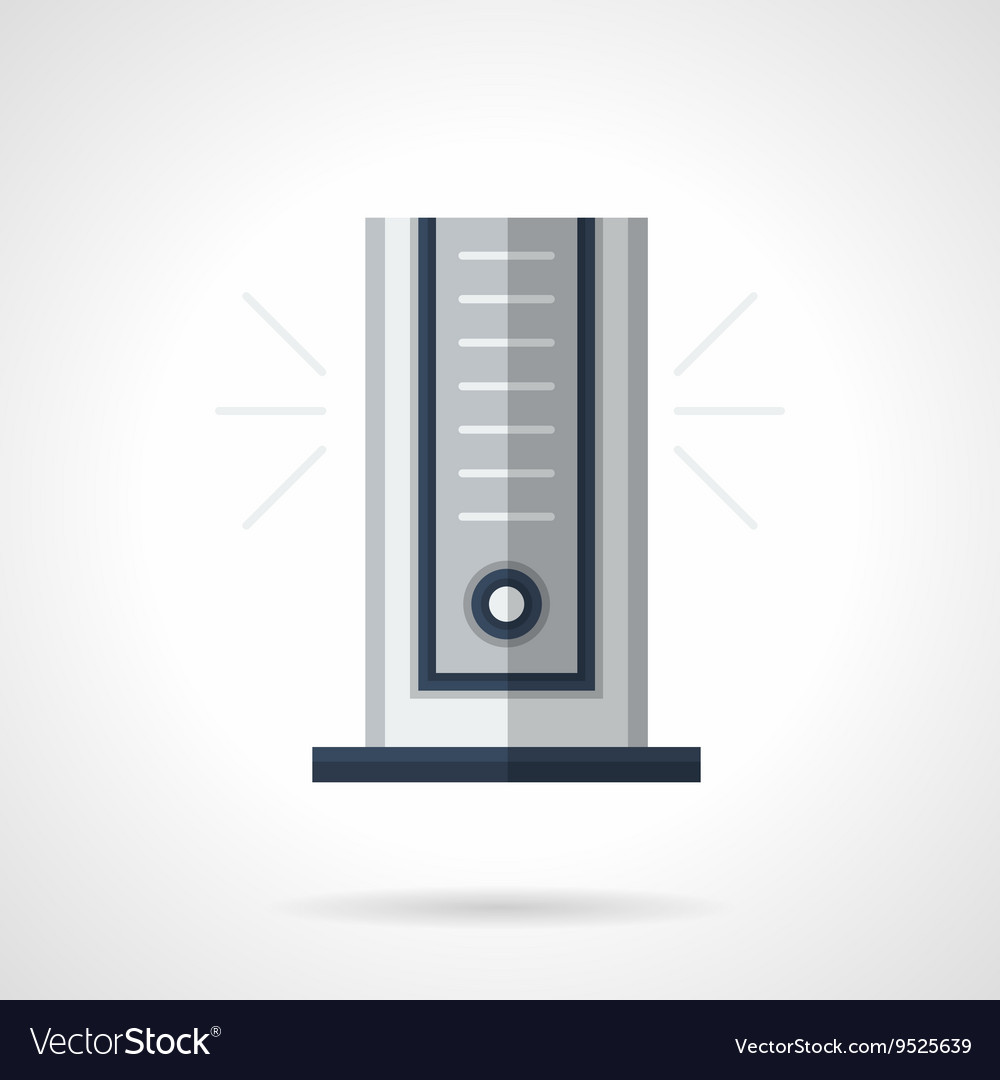 Modern climatic appliance flat color icon