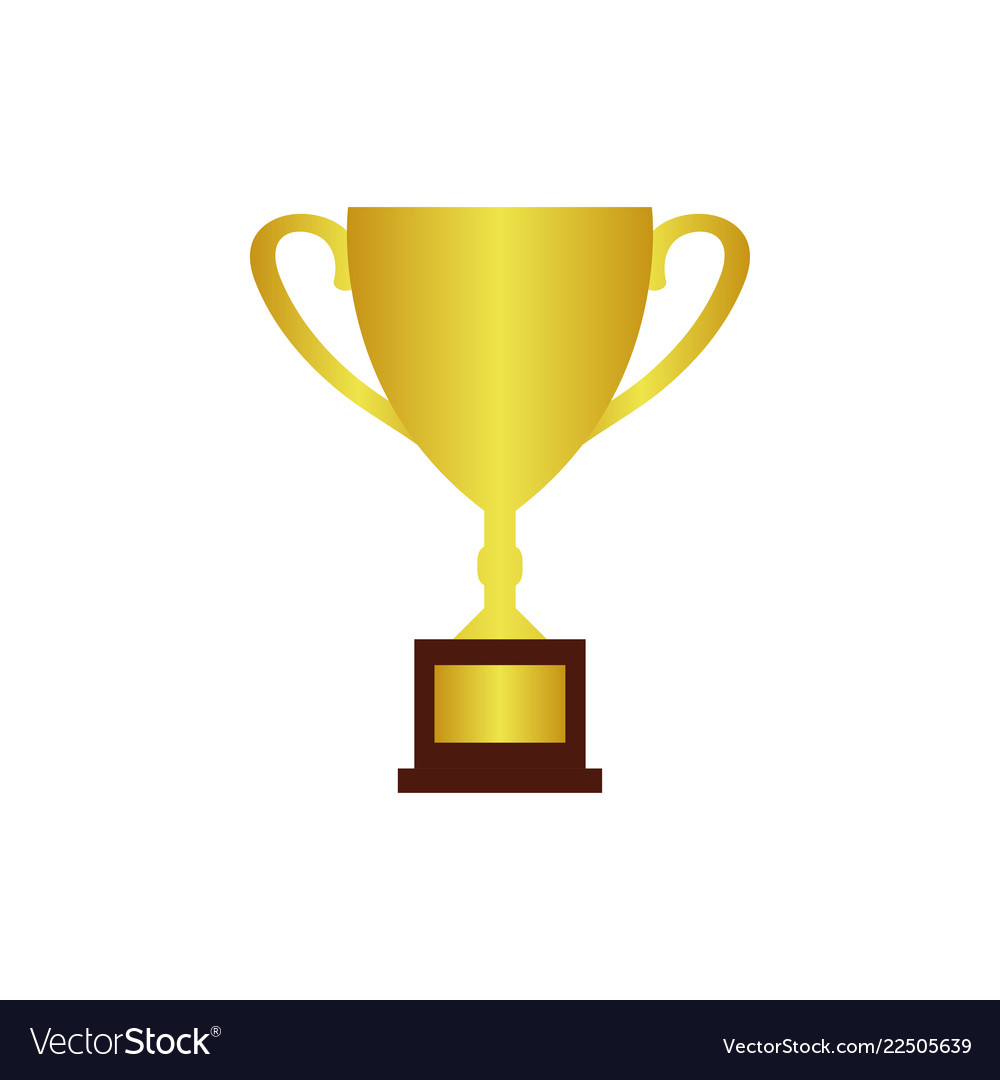 trophy logo icon design template royalty free vector image