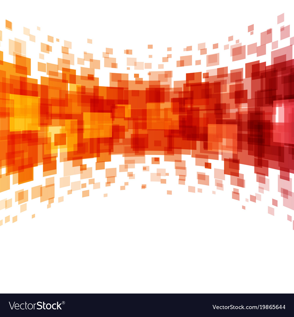 Abstract Geometric Squares Lines Orange