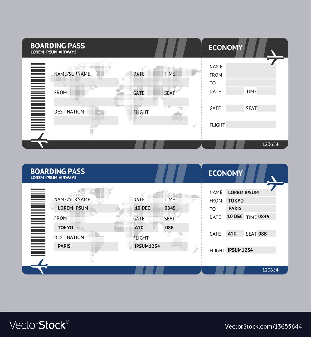 Airline ticket boarding pass