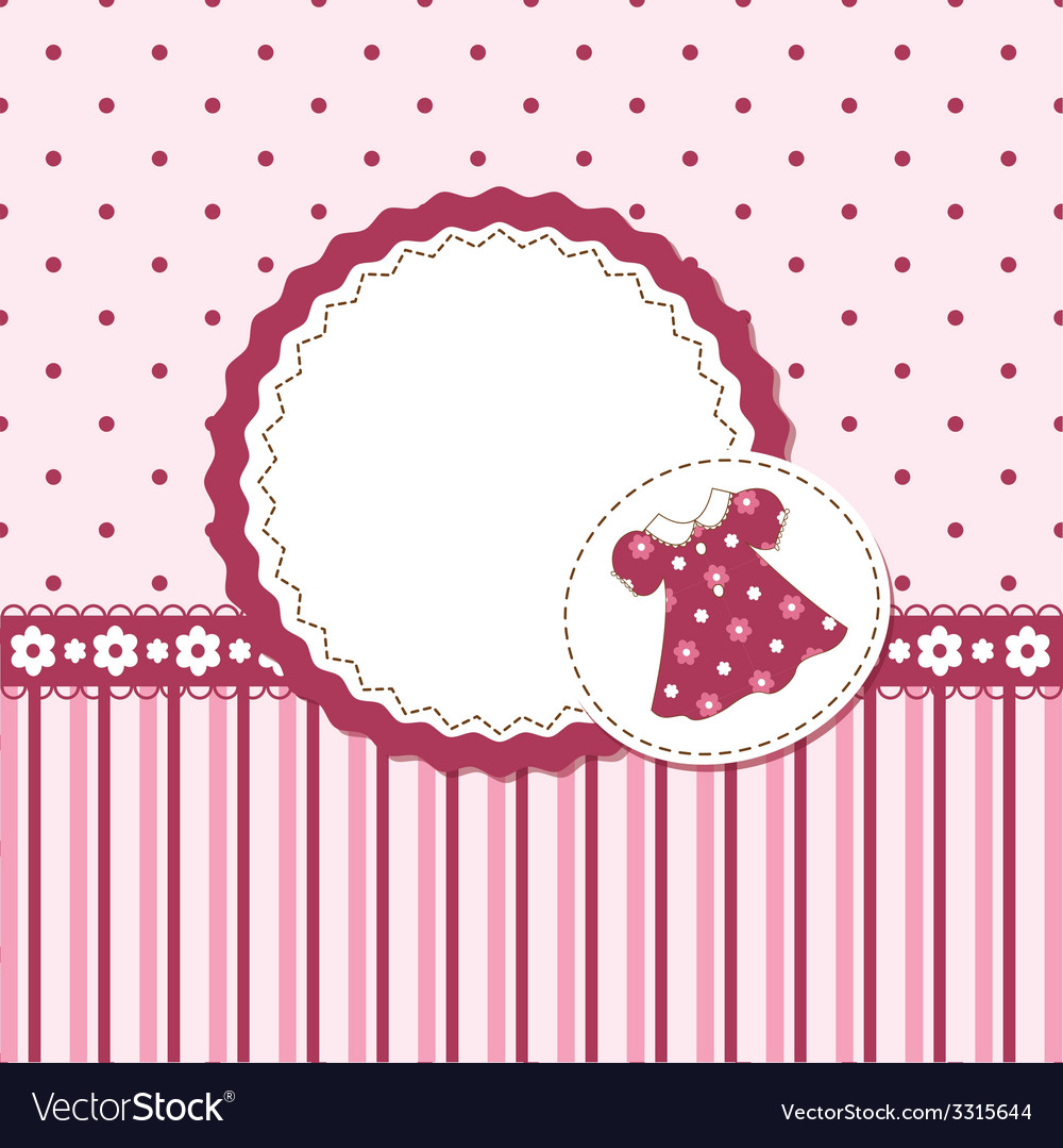 Superb Baby Girl Background Vector Image