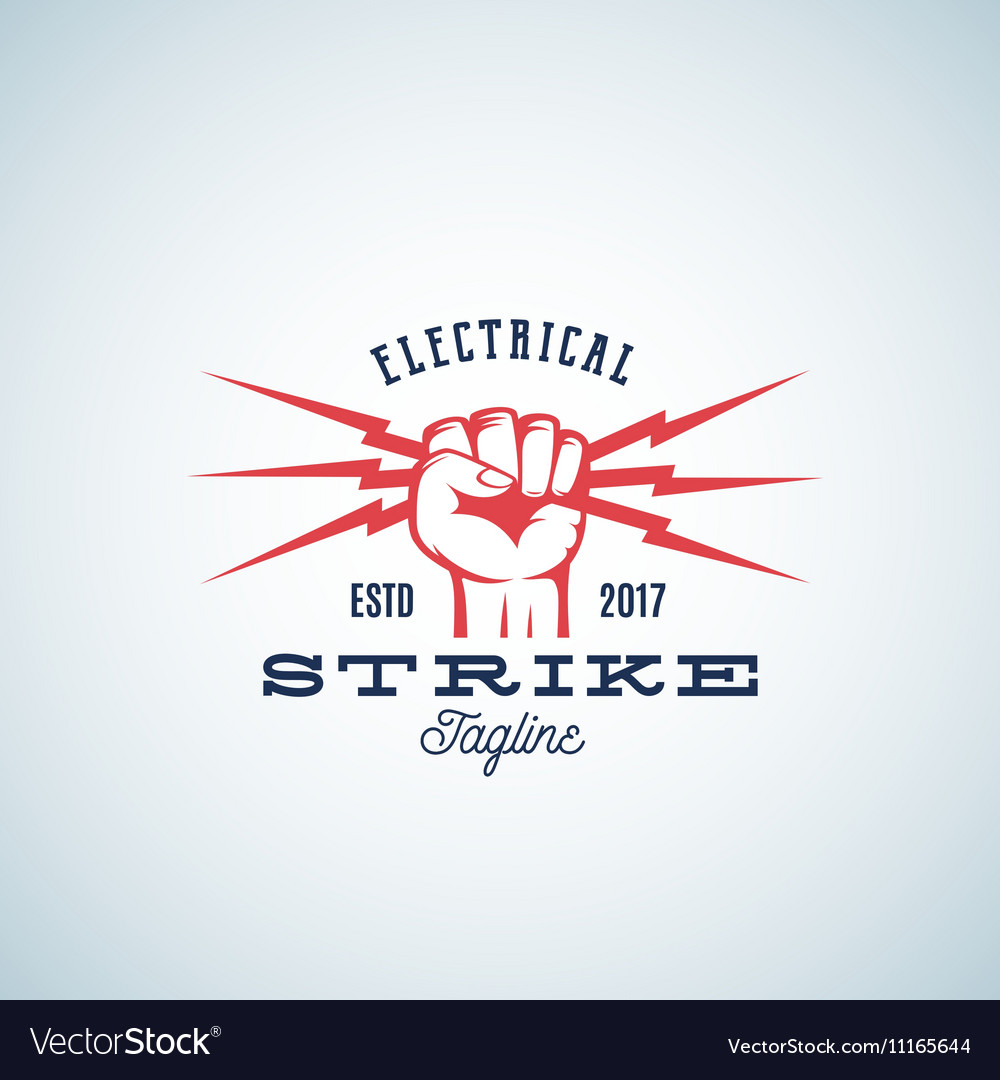 Electrical Strike Power Abstract Emblem or