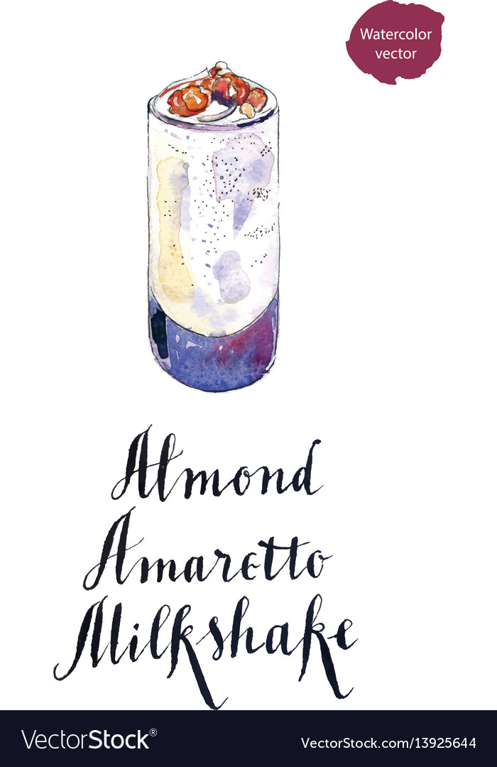 Glass of almond amaretto milkshake