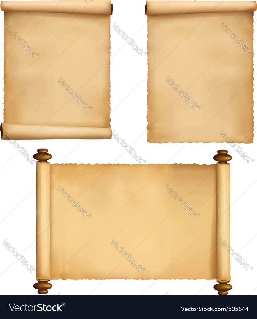 Set of old paper sheets vecto vector image