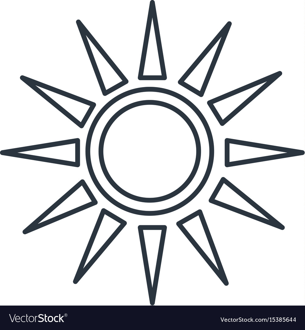 sun silhouette isolated icon royalty free vector image