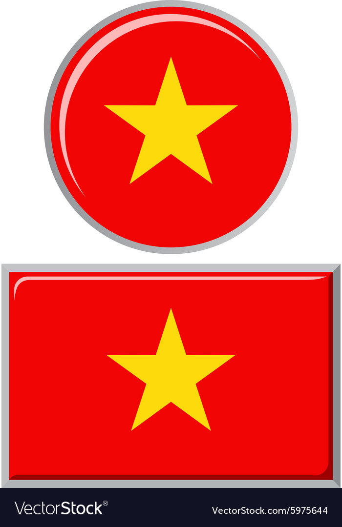 Vietnamese round and square icon flag