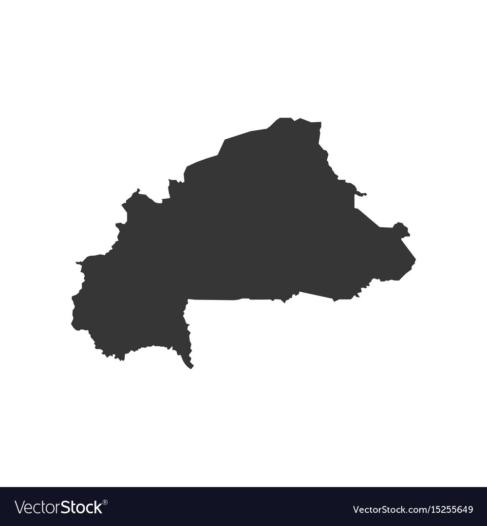 Burkina faso map silhouette Royalty Free Vector Image