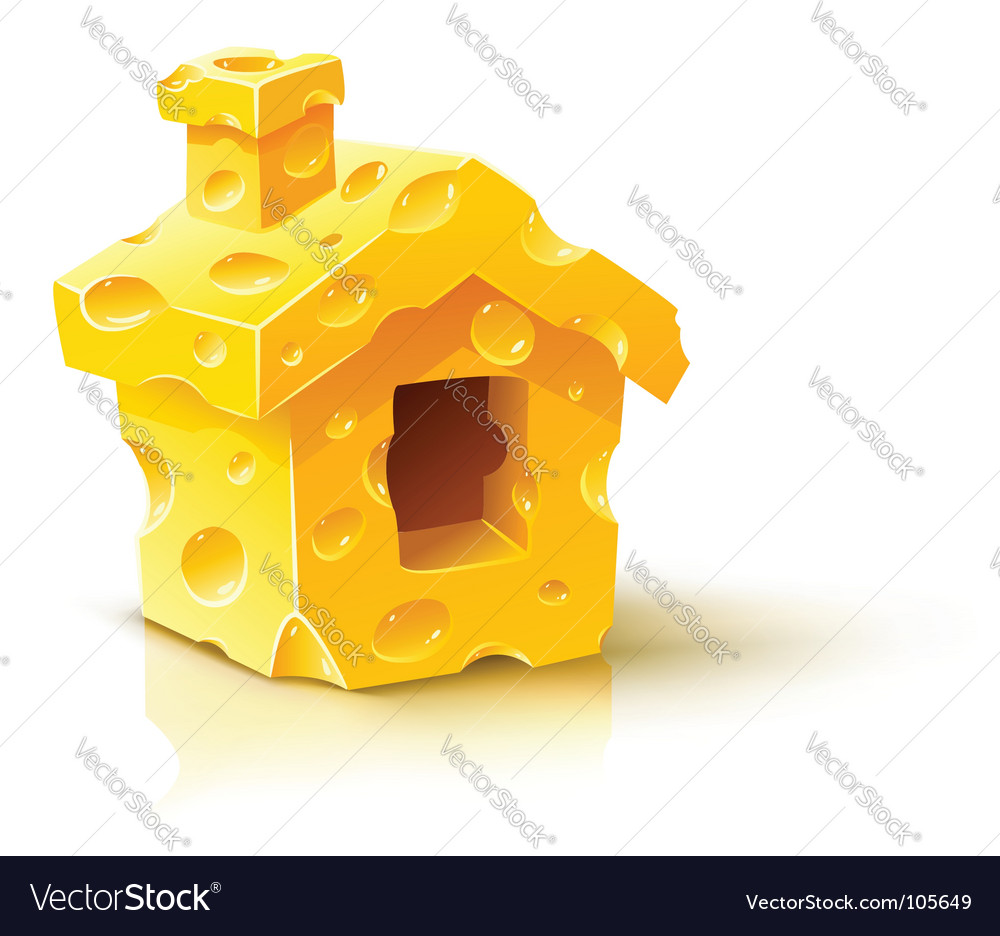 Cheese house vector image