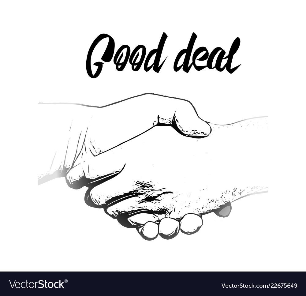 Clip art business handshake
