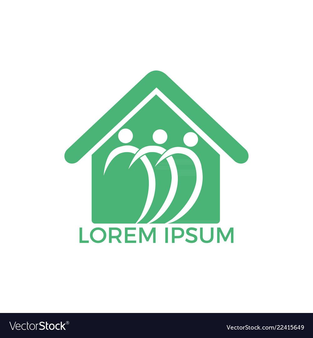 Community home logo design