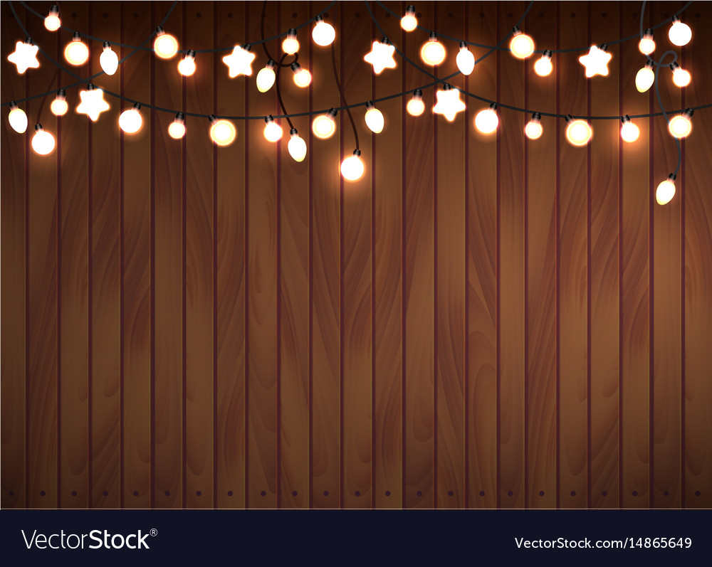Glowing lights garland vector image
