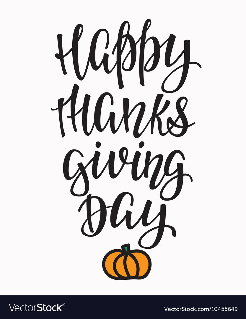Happy Thanksgiving day lettering typography
