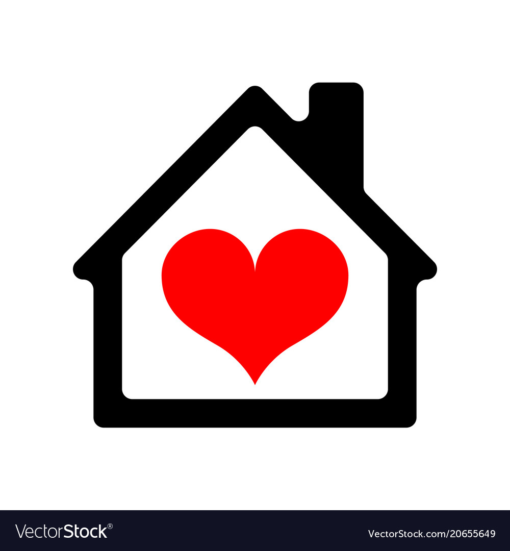 Astounding House Icon With Heart Home Remodeling Inspirations Genioncuboardxyz