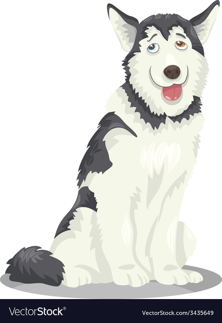 Husky or malamute dog cartoon