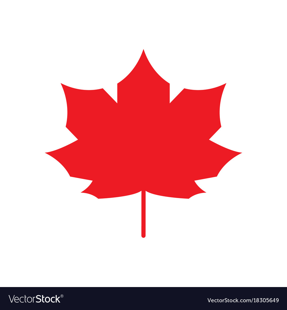 Red Maple Leaf Icon Canada Symbol Autumn Leaves Vector Image