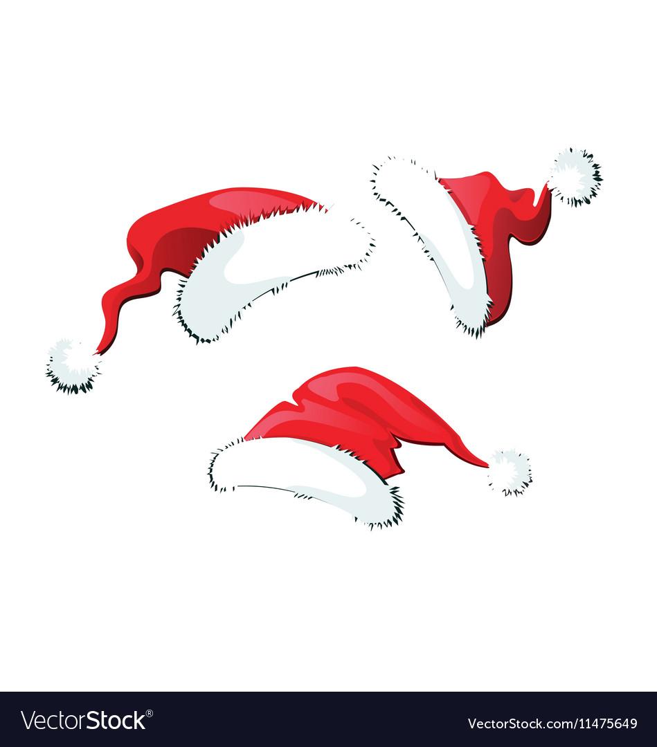Set of Santa Claus hats