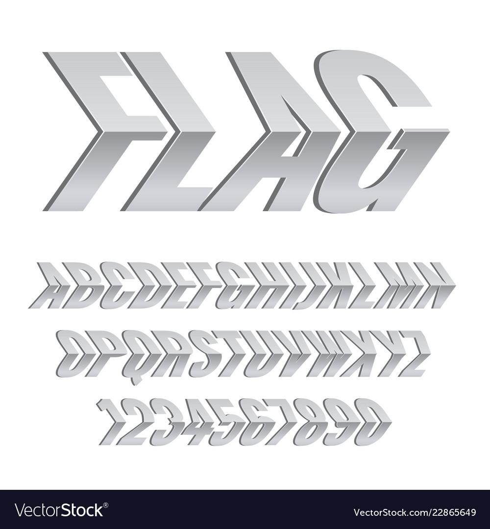 Silver alphabet