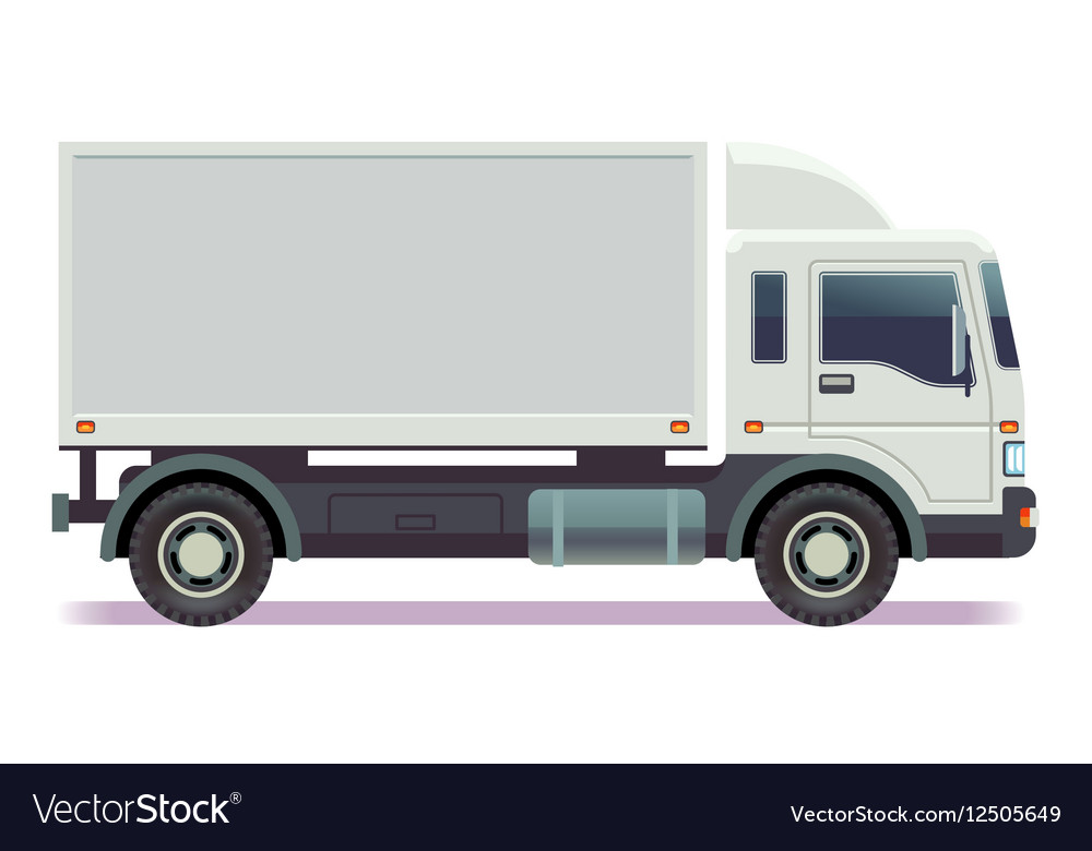 Small truck van isolated on white
