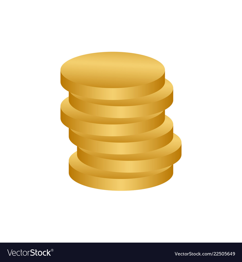 Stack of coins logo icon design template