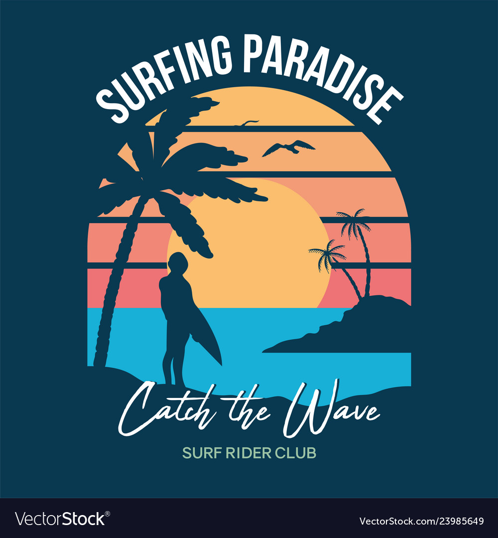 Surf sunset print