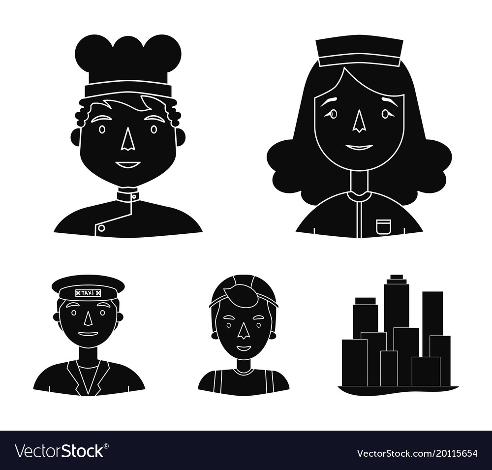 A nurse in a dressing gown a cook in a hood a Vector Image