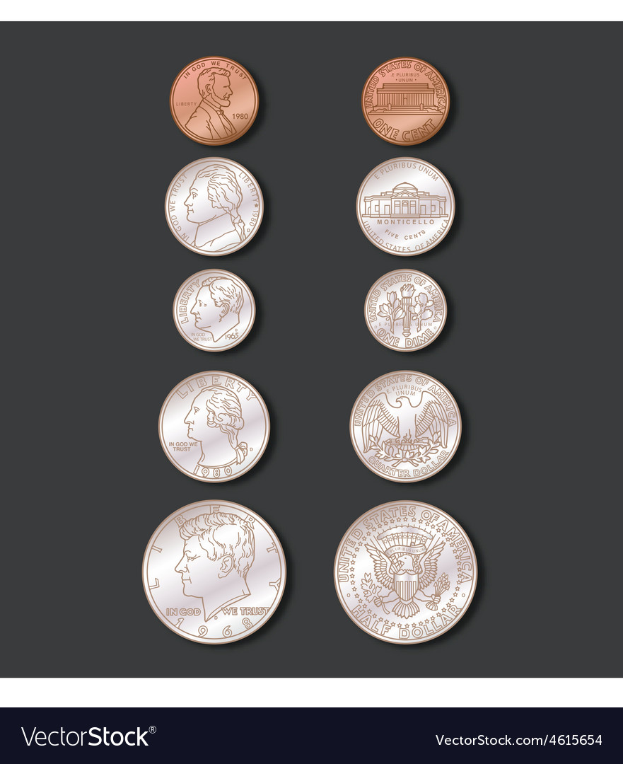 Coins Color vector image