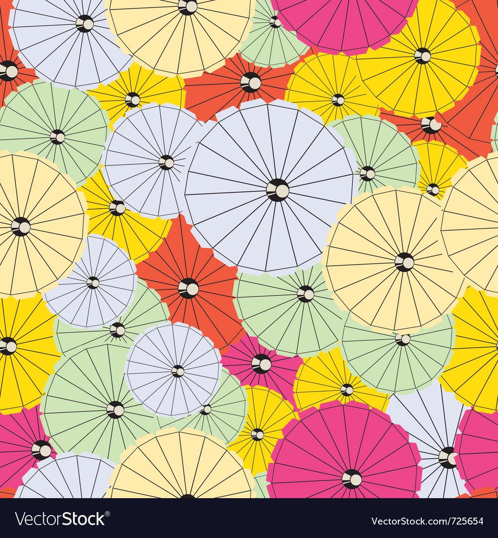 Colorful cocktail umbrellas vector image