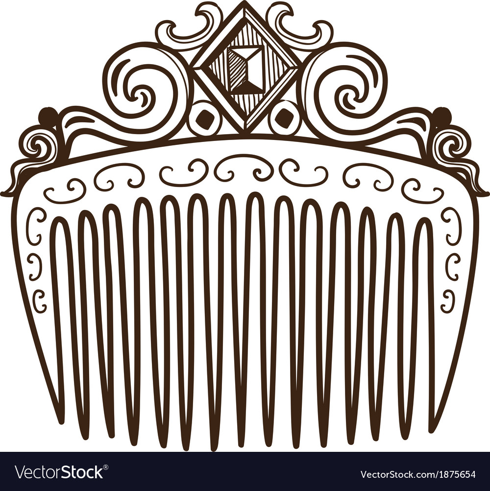 Comb with decorations