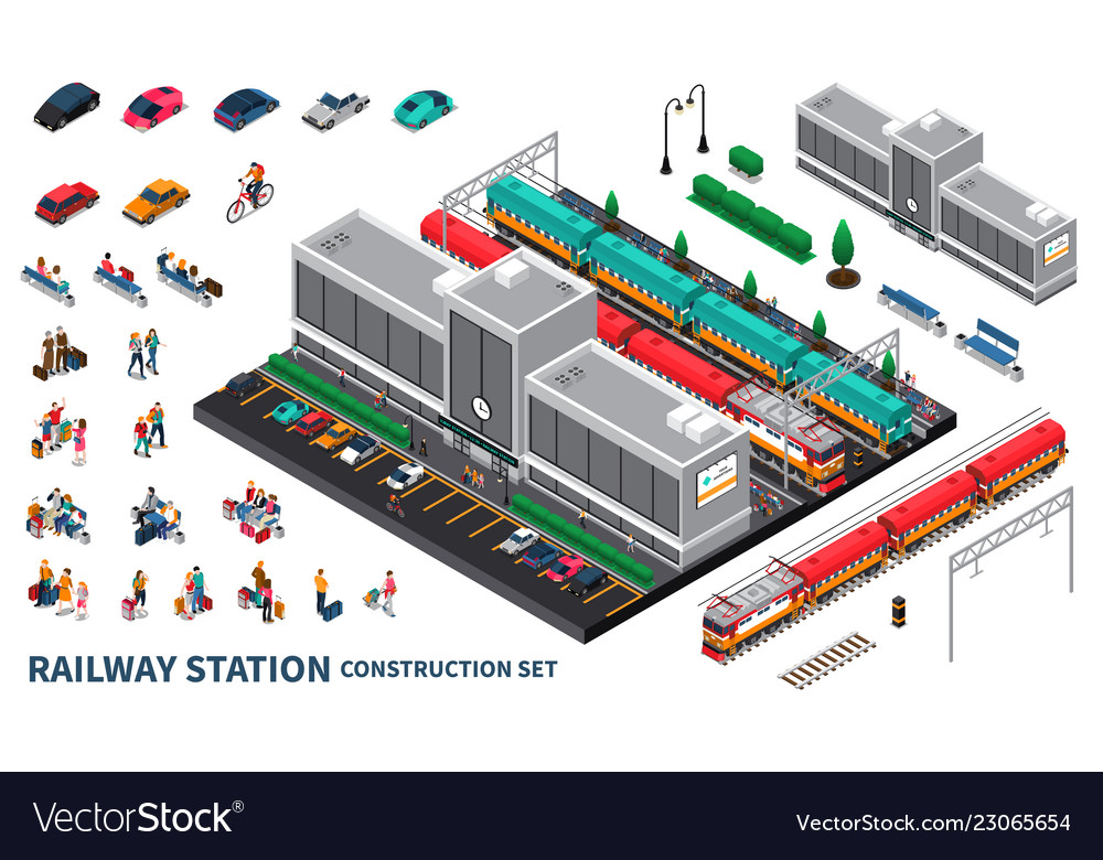 Railway station constructor set