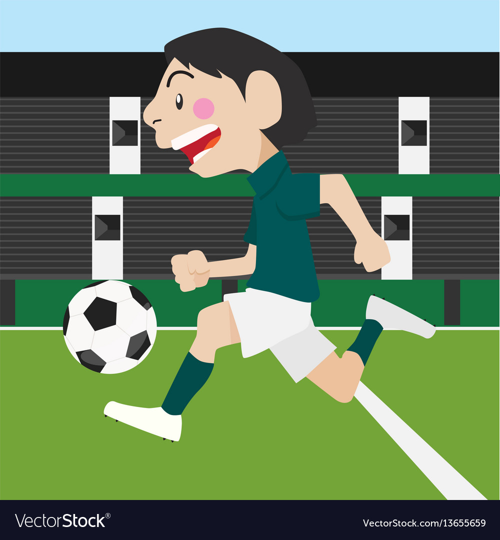Football soccer sport cartoon set