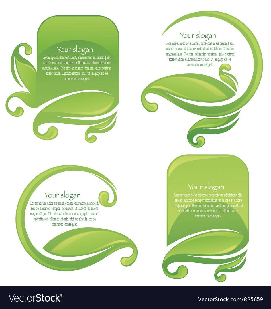 Green life vector image