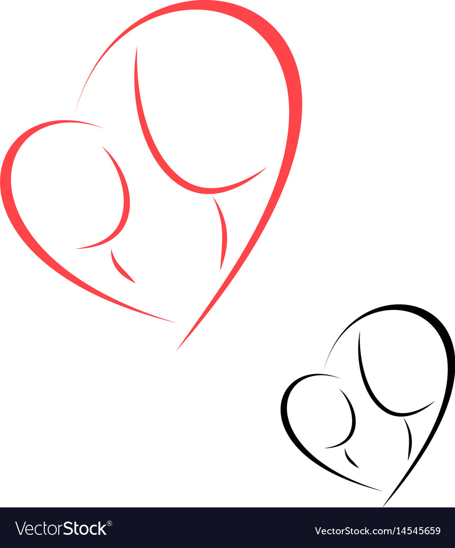 Logo motherhood and childhood vector image