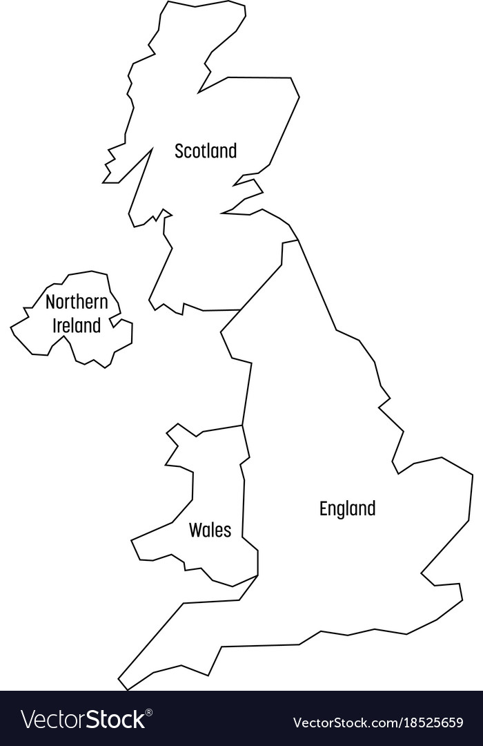 Blank Map Of England Scotland And Wales.Map Of United Kingdom Countries England Wales