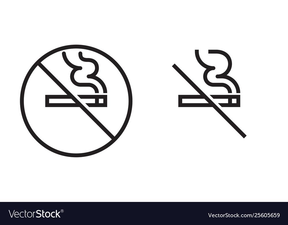 No smoking icon cigarette smoke forbidden no